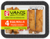 Van's Kitchen Orange Chicken Egg Rolls, 13.75 oz - 015788266302