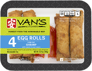 Vans Kitchen Shrimp Egg Rolls, 13.75 oz